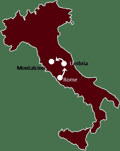 The Best of Rome & Montalcino itinerary