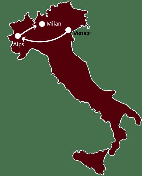 Venice & Milan itinerary