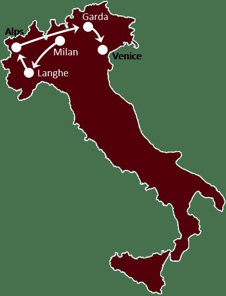 Venice, Fashion & Lakes itinerary